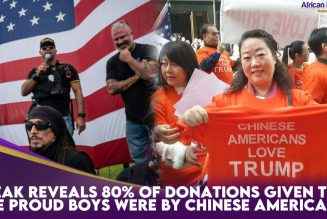 Leak Reveals 80% Of Donations Given To The Proud Boys Were By Chinese Americans