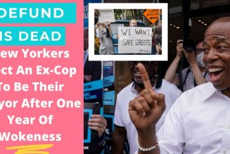 After a year of Defunding Police, white Liberals in New York elect Black Ex-cop as their new mayor.
