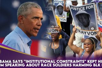 """Obama Says """"Institutional Constraints"""" Kept Him From Speaking About Race Soldiers Harming Blk Ppl"""