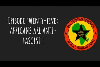 Pantsula Podcast 25: Africans Are Anti-Fascist