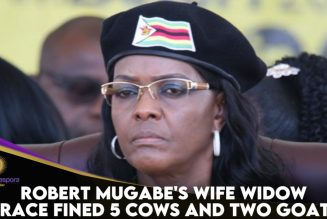 Robert Mugabe's Wife Grace Fined 5 Cows And 2 Goats For Burying Mugabe At Her Property