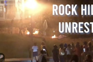 Rock Hill, SC – Protests continue into night as protesters block intersection