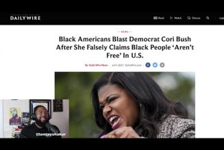 NEW: Cori Bush Falsely Claims Black People 'Aren't Free' In U.S., as dems are anti- USA & our flag