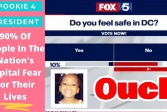 Poll: 90% DC residents say they fear for their lives b/c gun violence & thugs shooting recklessly.
