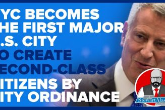 NYC BECOMES THE FIRST MAJOR U.S. CITY TO CREATE SECOND-CLASS CITIZENS | The Stewart Alastair Edition