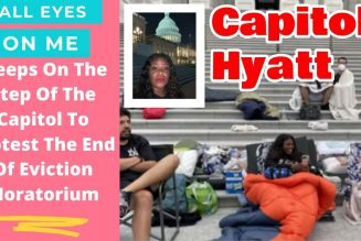Woke Sistah congresswoman sleeps on steps of the Capitol to protest the end of eviction moratorium.