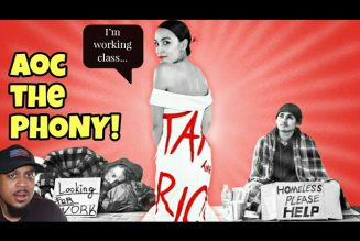 AOC Says She's Working Class While Wearing 'Tax The Rich' Designer Dress