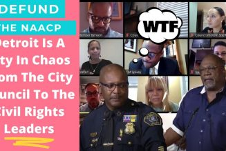 Head of NAACP embarrasses himself at press conference announcing new Detroit police chief.