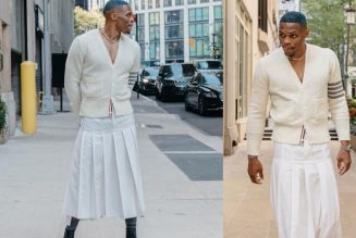 Russell Westbrook shows off for Fashion Week #russellwestbrook #fashionweek #nyc #kendricklamar