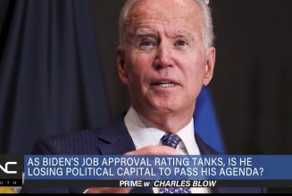 Charles Blow: Biden's Job Approval Dips, Struggling to Pass His Agenda